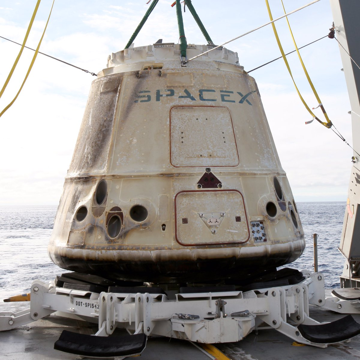 Dragon is headed to port for a cargo handover to @NASA.