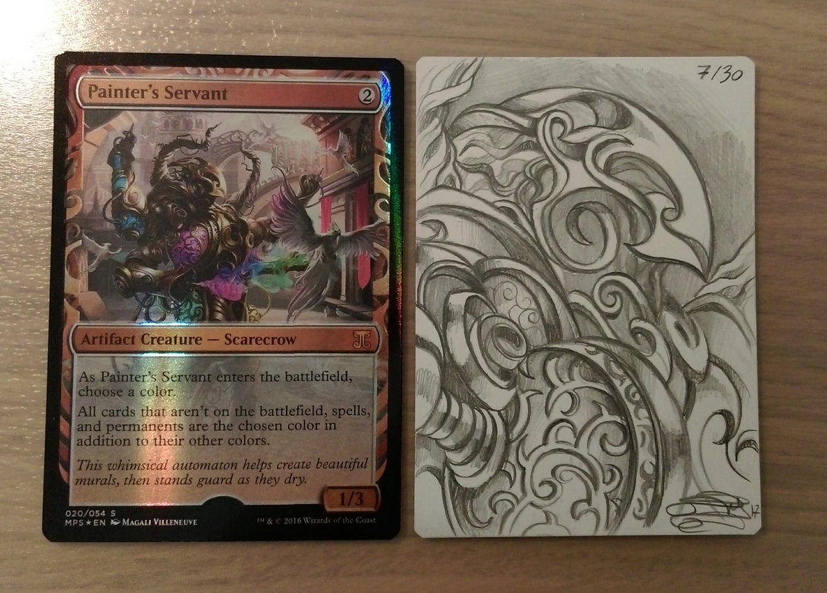 Magali Villeneuve On Twitter Mtg Masterpiece Painter S Servant Artist Proof Sketch This is something i ran into playing around in vintage a bit (yes i know, painters servant, boo). magali villeneuve on twitter mtg