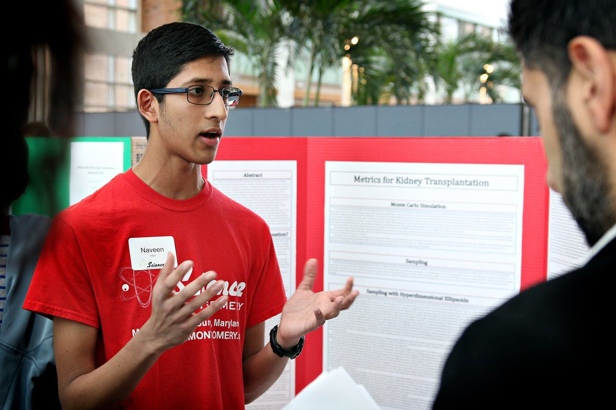 Naveen Durvasula at the Montgomery County Science Fair