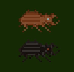 Bugs are hard in #pixelart  We&#39;d appreciate any #feedback. @Pixel_Dailies @PixelBestiary @PixelArtSprites. #indiedev #indiegames.<br>http://pic.twitter.com/IYHOk09oUA