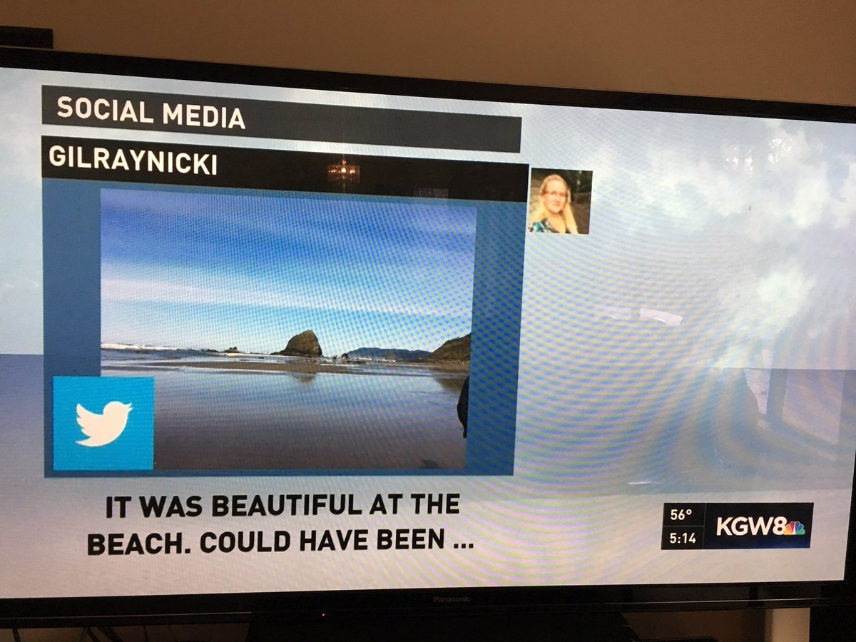 #kgw8 #kgwweather #mikebrennantv. Found my tweet on tv!!<br>http://pic.twitter.com/AZx46NRnhJ