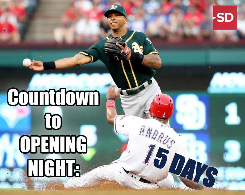Who&#39;s ready for #Rangers opening night? #15days #NeverEverQuit <br>http://pic.twitter.com/aHovEKEKJA