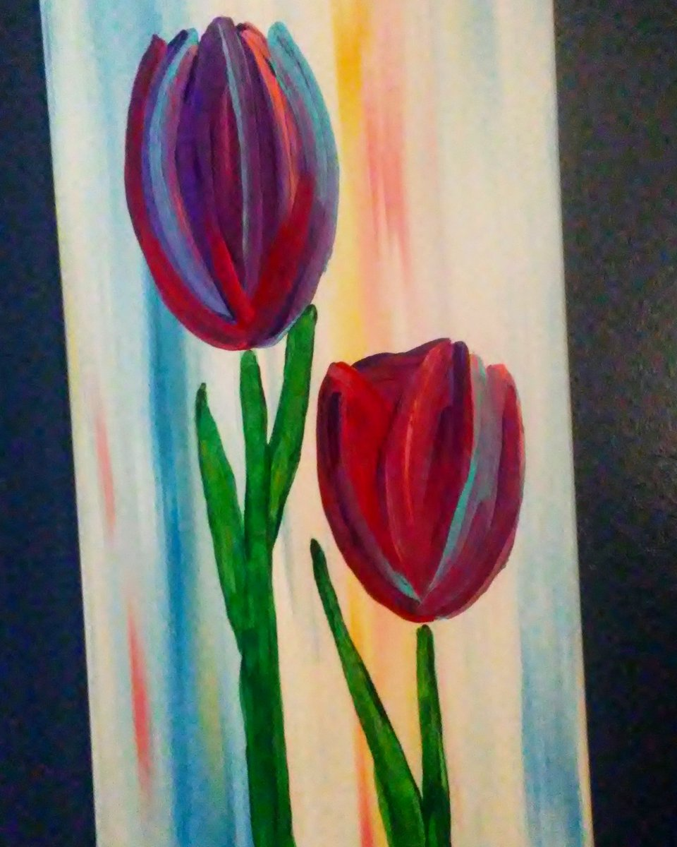 Towering Tulips I @FineArtAmerica #artlovers #homedecor #bright #art #textile #contemporary #fun<br>http://pic.twitter.com/8gRChccjO7
