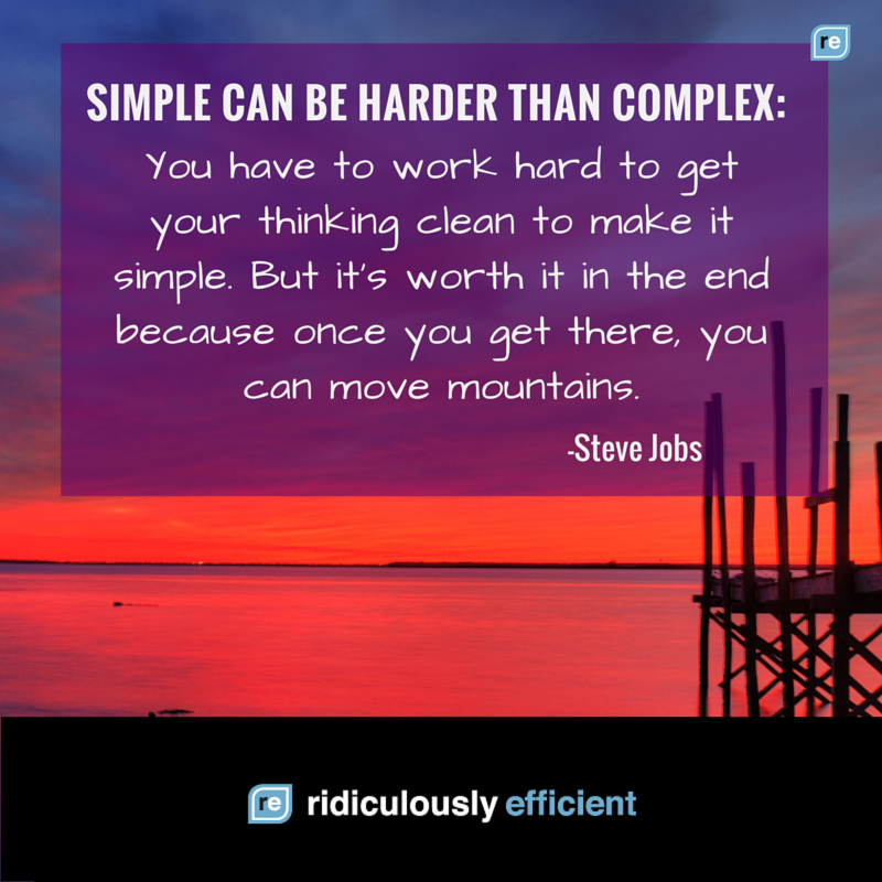"""Simple can be harder than complex."" -Steve Jobs https://t.co/5ZolEFtXpZ"