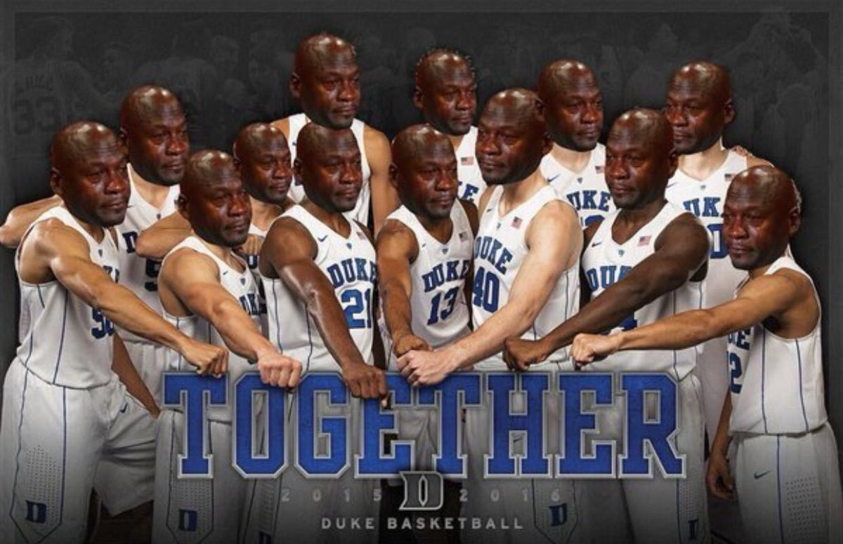 RT if u happy duke lost 😂😂😂😂😂 #TarHeelNation https://t.co/JkKT9ywQPt
