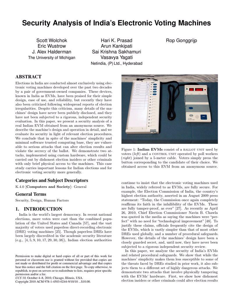 conclusion on electronic voting machine Finger print based electronic voting machine guided by : mr tvenu gopal me,miste,fiete (phd) associate professor presented by : 07j81a0426 07j81a0402.
