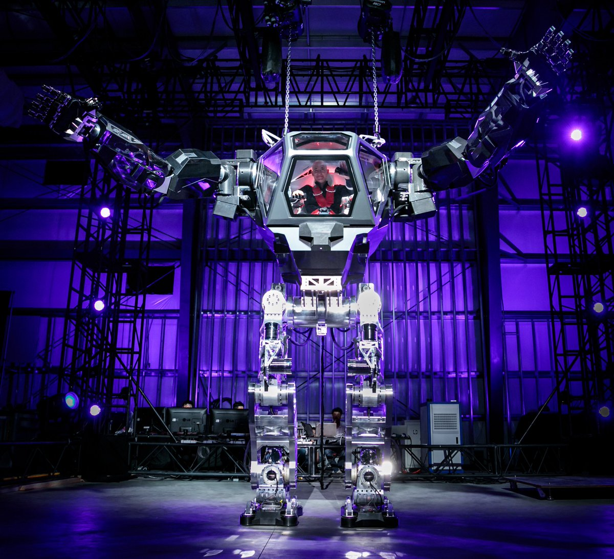 Jeff Bezos suits up in giant robot armor as Amazon prepares to take over the world
