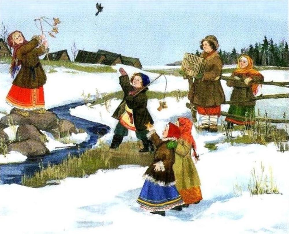 картинки весенних праздников в старину делаю его