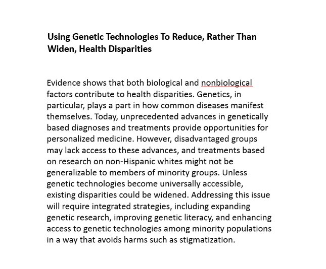 How to advance genetic technologies AND reduce health disparities? https://t.co/meKE6cqEem https://t.co/2qpIfuC8dE