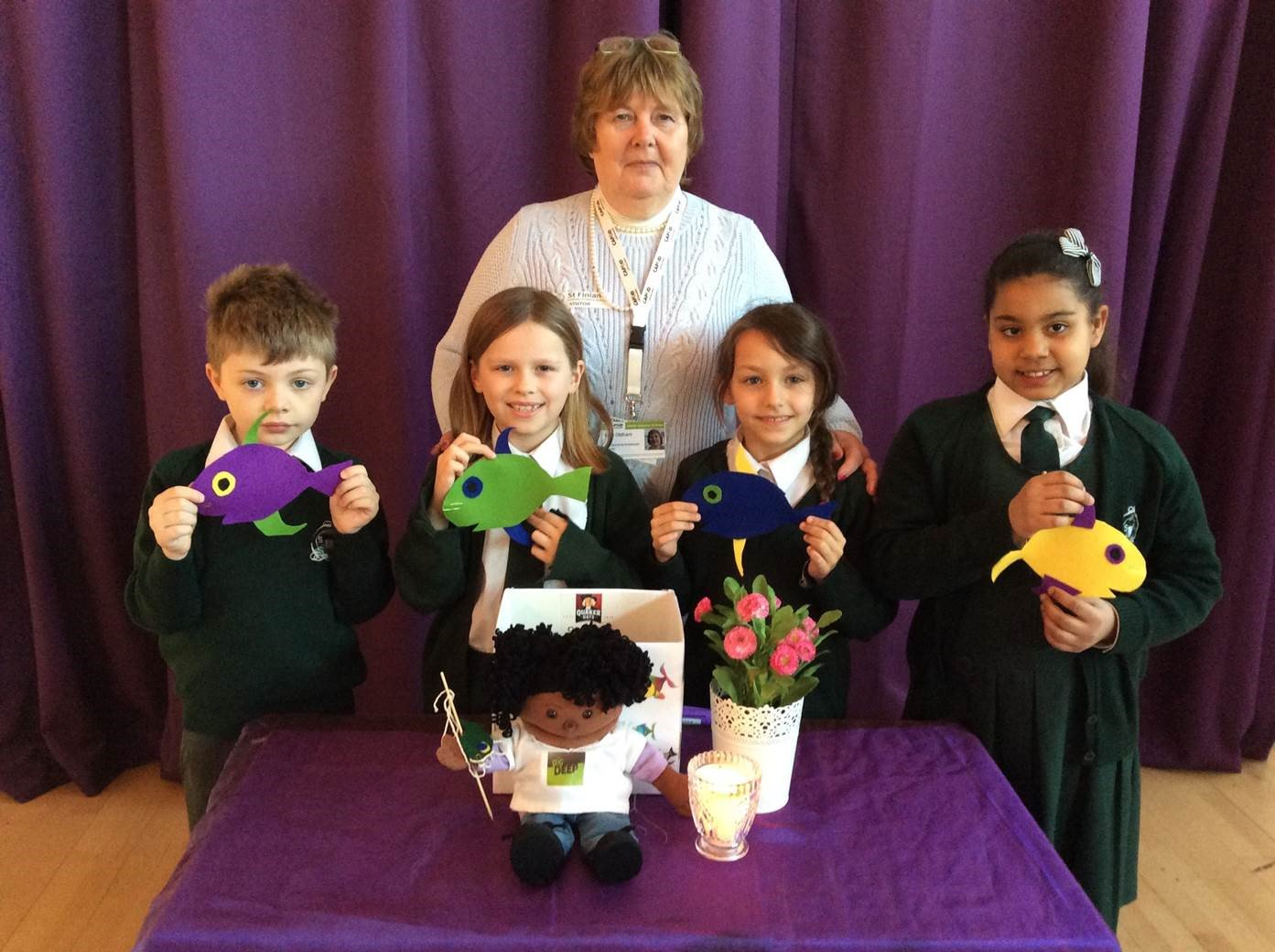 Hello to St Finian's Primary Newbury and we hope you enjoyed our CAFOD #bigfish assembly #Lent https://t.co/nIXgRjBAAp https://t.co/U14KQts3qH