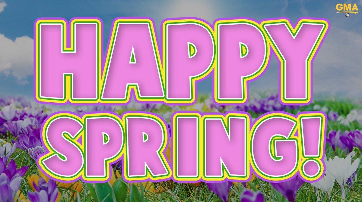 IT IS SPRING!  #HappySpring #FirstDayofSpring https://t.co/n1LX5vuYaO