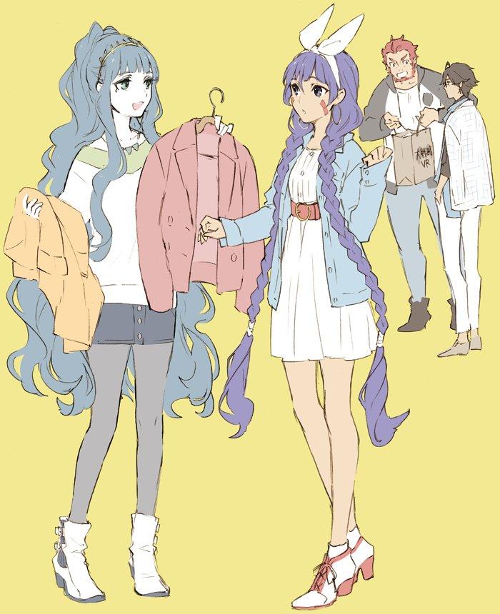 ファラオの皆さん何かと現代服着てるしニトクリスちゃんにも着て欲しい。