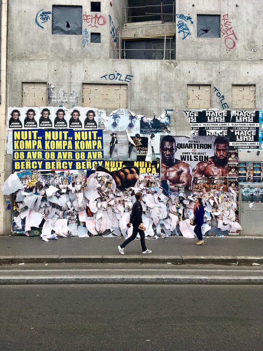 "joachim romain art on twitter: ""affichage libre #barbes #paris"