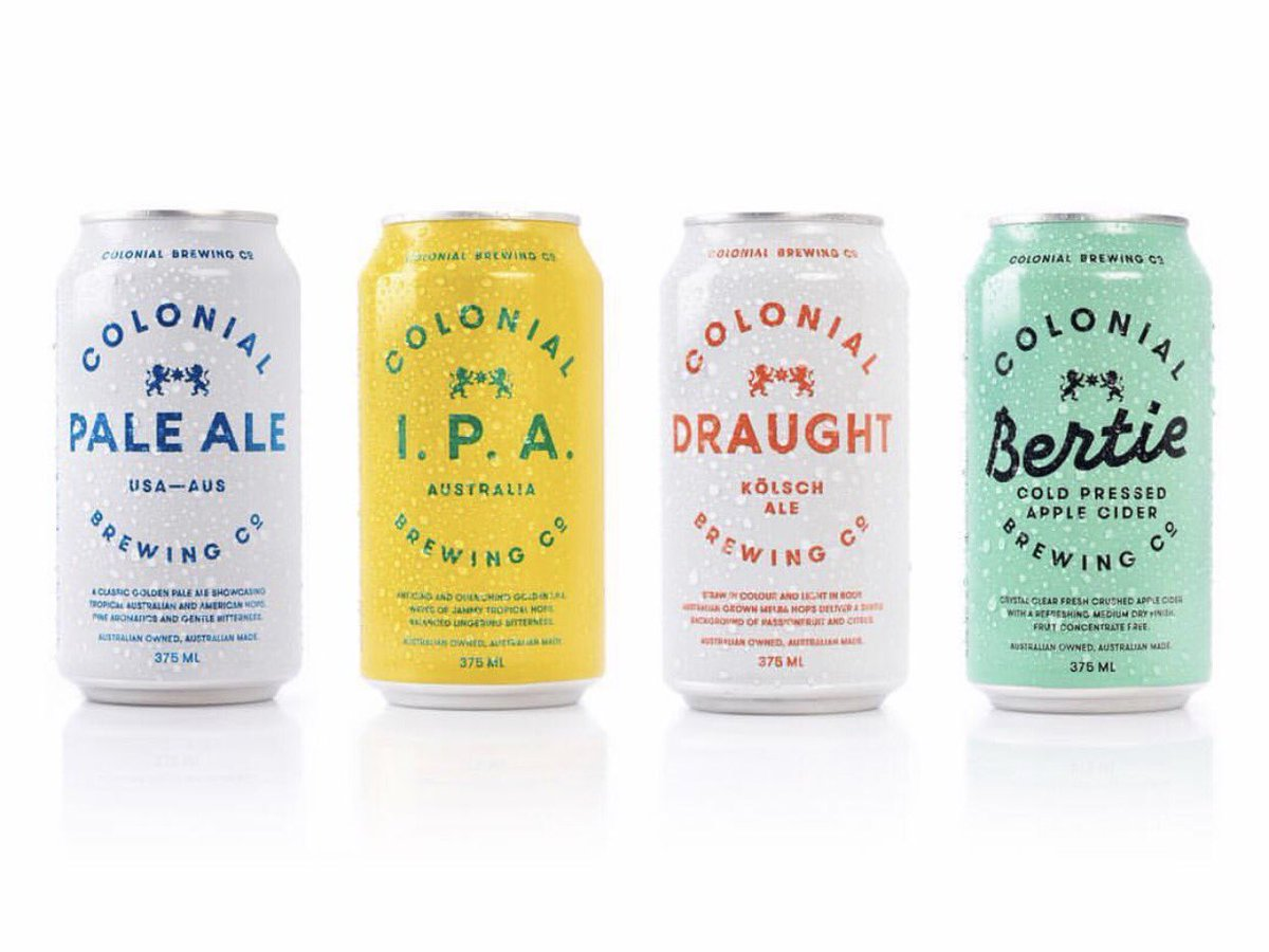 Nice work and colour palette from @Alter_ for Colonial Brewing Co. #beer #can #typography #craftbeer #ipa https://t.co/a4R0uhFCWk