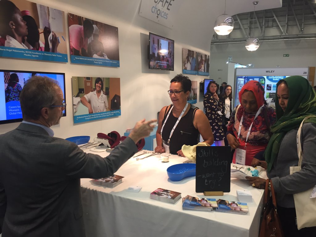 Programme Manager, Val Truby demonstrating MVA on the Centre for Women's Global Health stand #rcog2017 https://t.co/Q11cN6IdjH