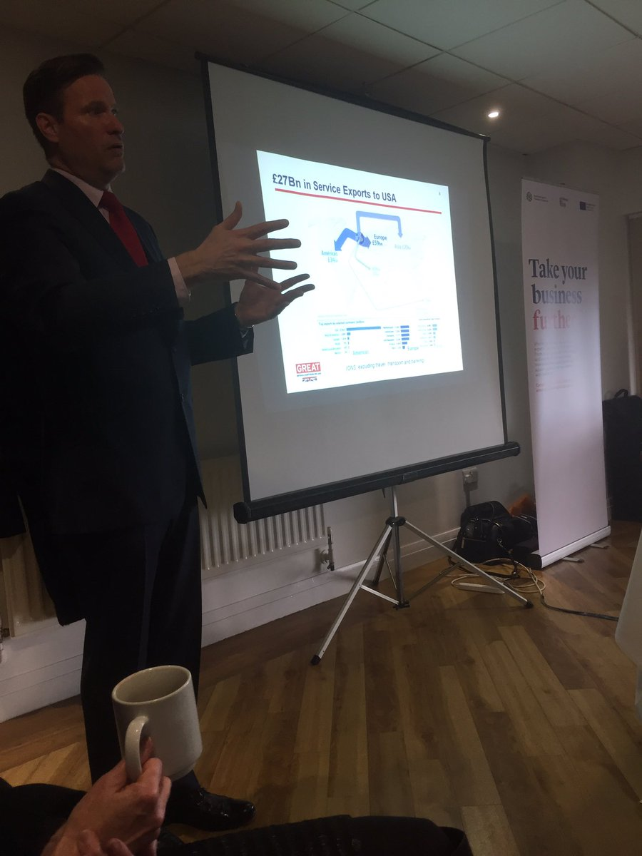 Lead #ITA Simon Crosby goes into detail about the US  market and opportunities for North East #exporters @tradegovuk_NE<br>http://pic.twitter.com/l6Dc36hDMm