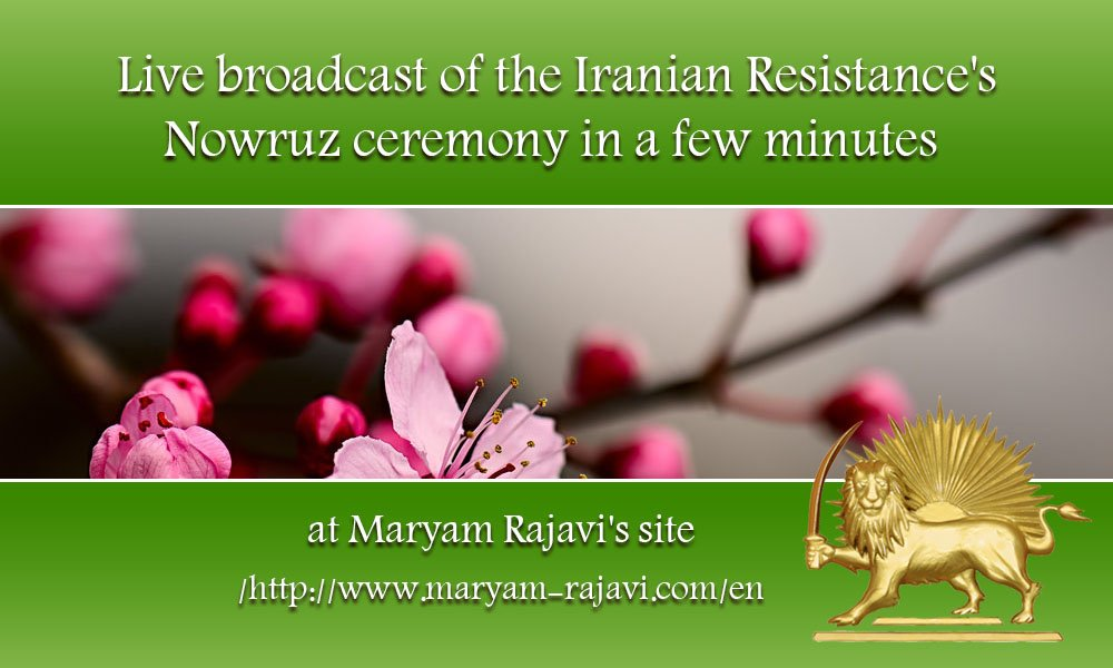 Live broadcast of the #Iran ian Resistance's #Nowruz ceremony in a few...