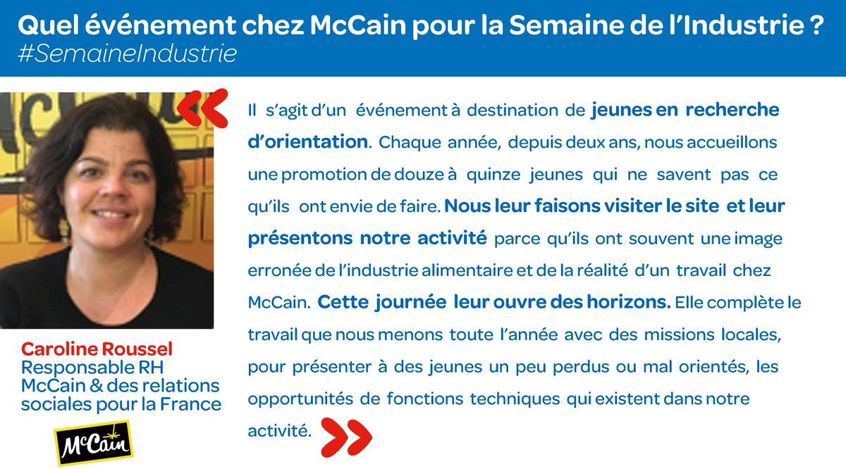 #McCain accueille des jeunes en recherche d&#39;orientation pendant la #SemaineIndustrie. L&#39;interview complète ici :  http://www. ania.net/wp-content/upl oads/2017/03/DP_Semaine_industrie_2017-BD.pdf &nbsp; … <br>http://pic.twitter.com/bOGjtJDhHj