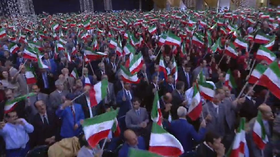 Participants in the #Iran ian Resistance's #Nowruz celebration say the traditional prayer prior to the #NewYear transformation  #FreeIran<br>http://pic.twitter.com/9S9PJ29NyG