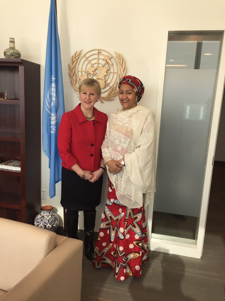Sweden offers strong support to DSG @AminaJMohammed and her readiness to take on reforms.