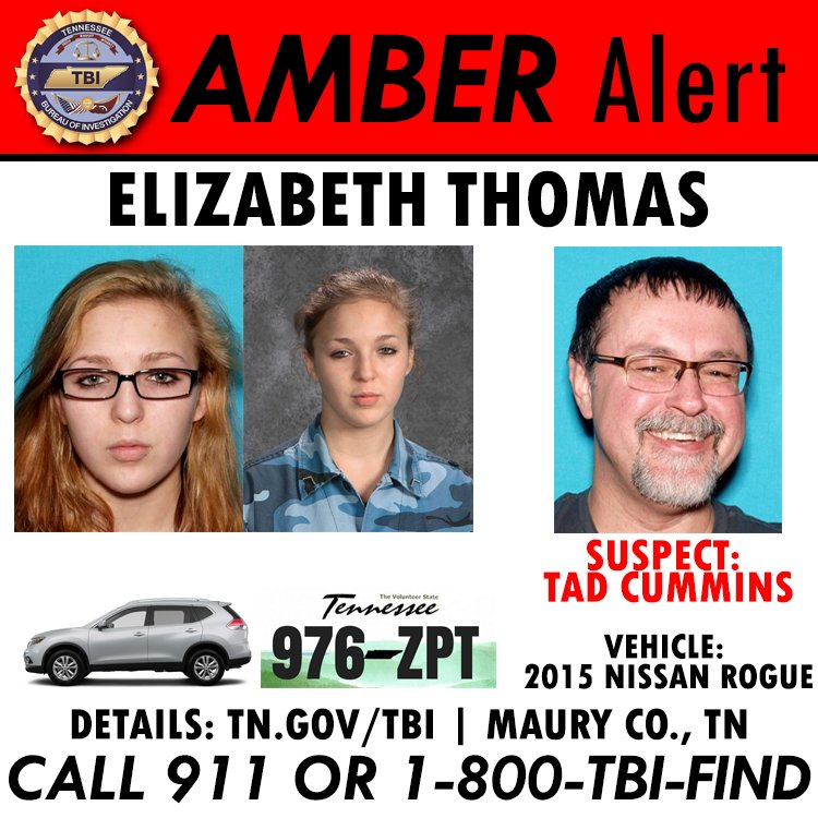 Tad Cummins and Elizabeth Thomas Amber Alert Poster
