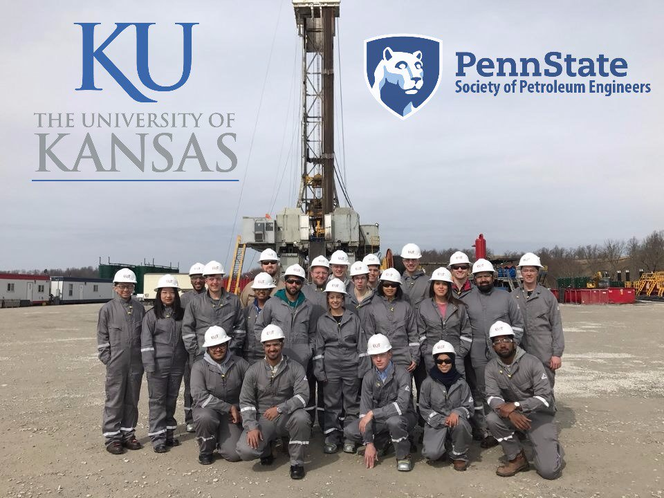 Penn State & University of Kansas SPE are LIVE out on a drilling rig & completions site tour today with EQT!  #SPECollaborations @SPEtweets https://t.co/8lgpj8hDLq