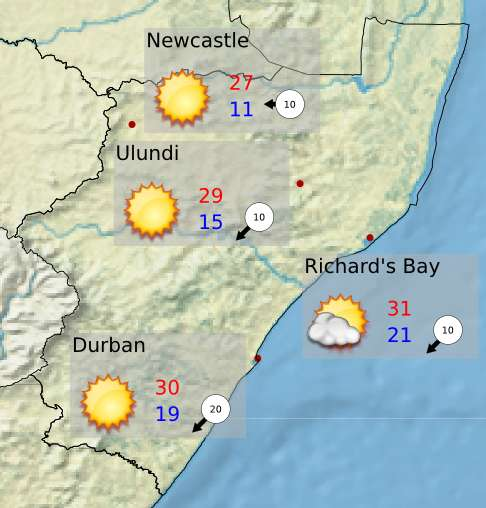 Thumbnail for Tomorrow's weather overview