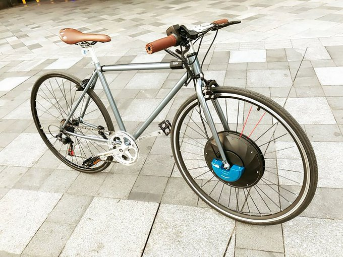 Turn any bike into an e-bike with UrbanX's drop-in wheel