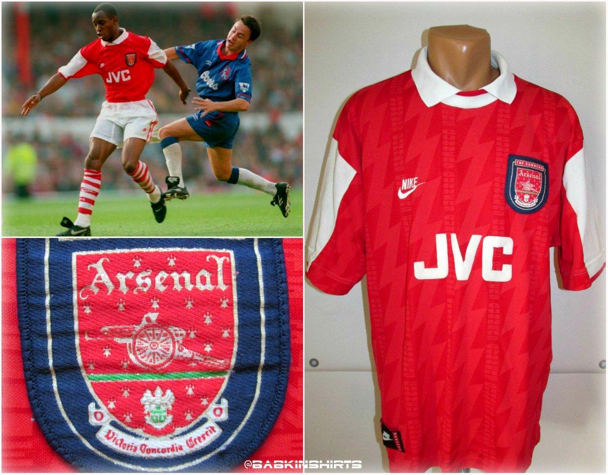 156079ce8 1994 95 96  Arsenal home  footballshirt http   ebay.eu 2nJMvp7  vintage   NIKEFOOTBALL  nike  England  arsenal  Jersey  ebay   jersey4salepic.twitter.com  ...