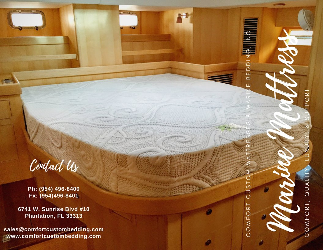 We make #Marine #mattresses too. Call (954) 496-8400 or come into our Fort #Lauderdale #showroom to see your next #mattress. #boat #water<br>http://pic.twitter.com/U5bnNoKXb4