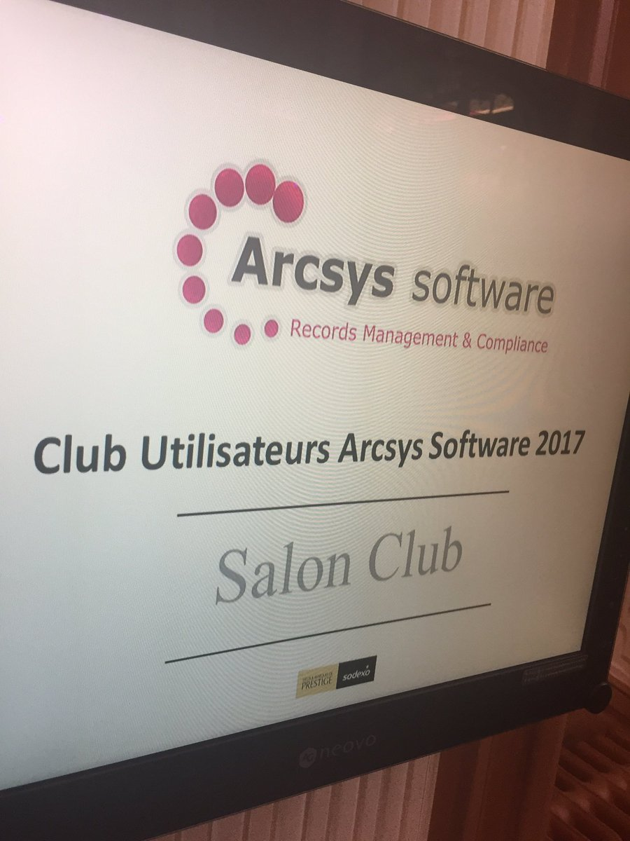 Début club utilisateurs Arcsys par D. Lhopital #digitalpreservation #blockchain #PKI #IOT #Ransomware #GDPR @RLDI_Lamy @ArchimagRedac<br>http://pic.twitter.com/QKcs66JQN9
