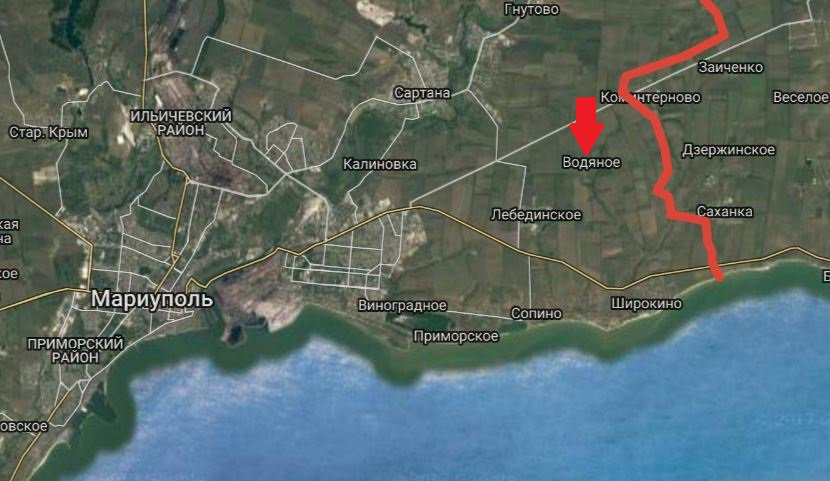 Mariupol: Russian forces shelling area of Vodyane with artillery, GRAD and mortars