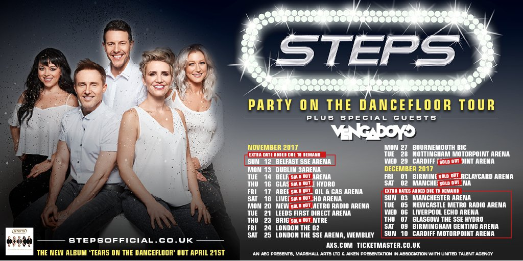 Steps Party On The Dancefloor Tour