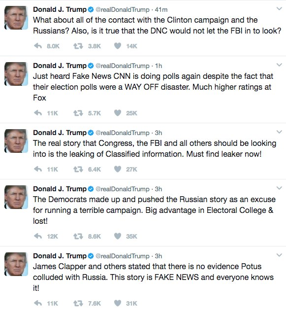 I guess #RussiaGate is really starting to get to Twitler. Methinks the idiot doth protest too much.