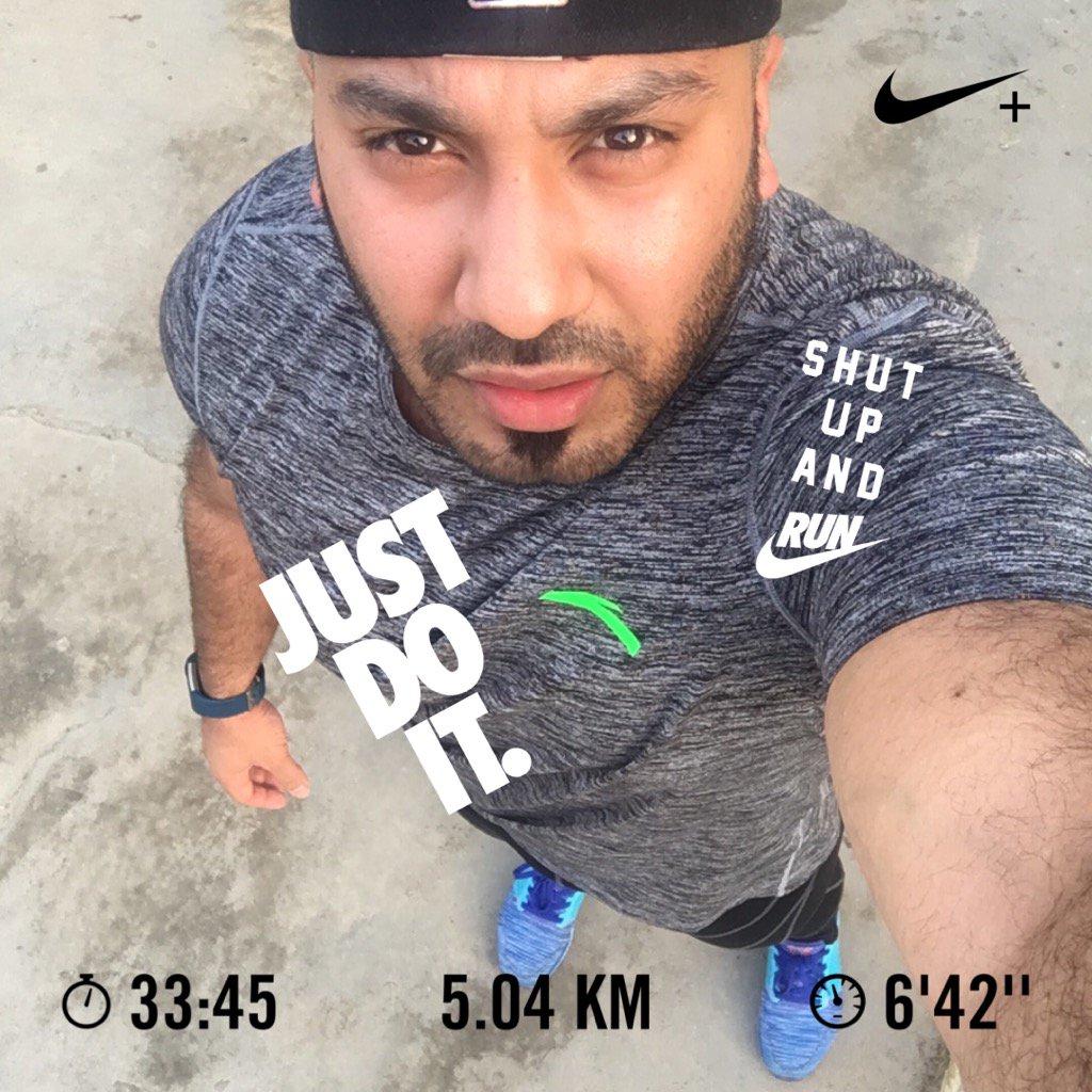 Just finish my daily #5KM run #nike #nikerunclub #justdoit<br>http://pic.twitter.com/3CSGuQRbWK