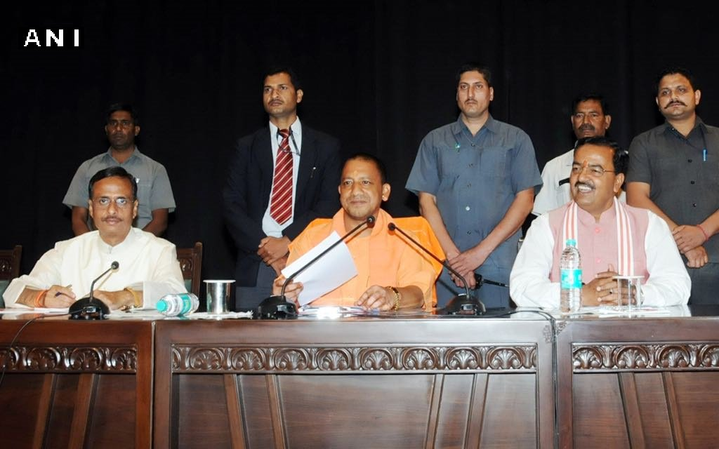 UP CM Yogi Adityanath administered a cleanliness pledge to Govt officials. Officials pledged to give their 100 hours annually for the cause