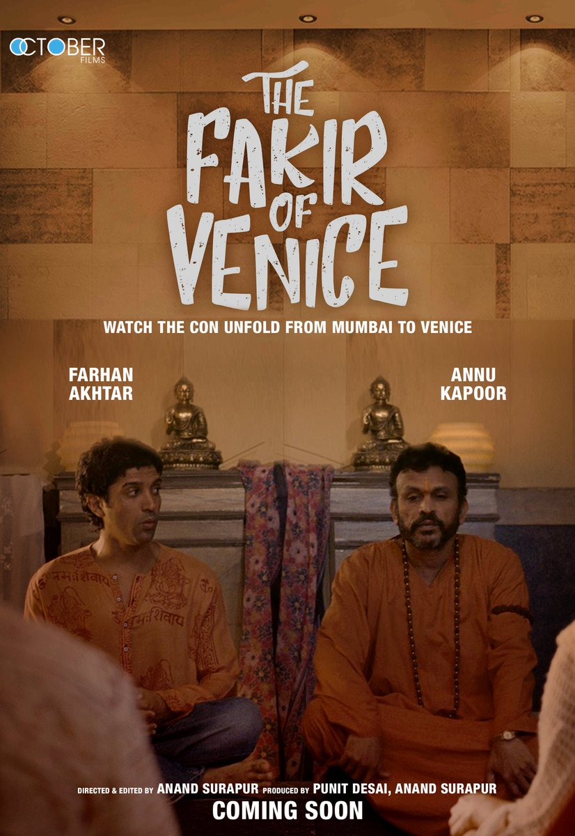 First Look Poster of The Fakir Of Venice starring Farhan Akhtar, Annu Kapoor