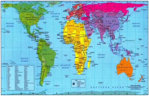 James patrick on twitter this is a gall peters map its accurate james patrick on twitter this is a gall peters map its accurate to real scale and the true view of our world and its superpowers is mindblowing gumiabroncs Image collections