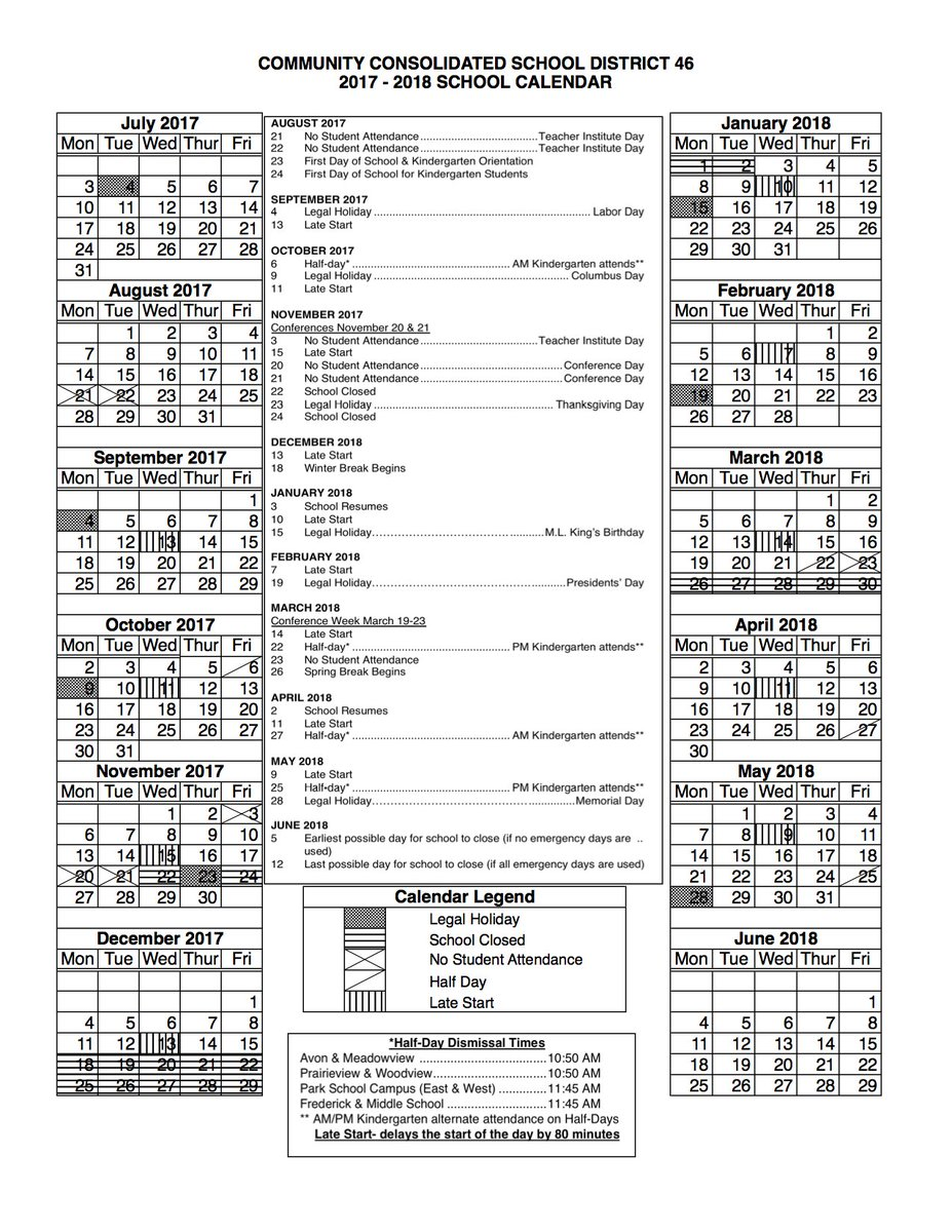 Ccsd Calendar.Ccsd 46 Grayslake Il On Twitter 2017 2018 School Calendar This