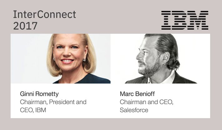 Image result for Rometty Benioff interconnect
