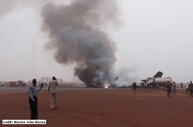 At least 14 people have survived the plane crash in South Sudan, local official says