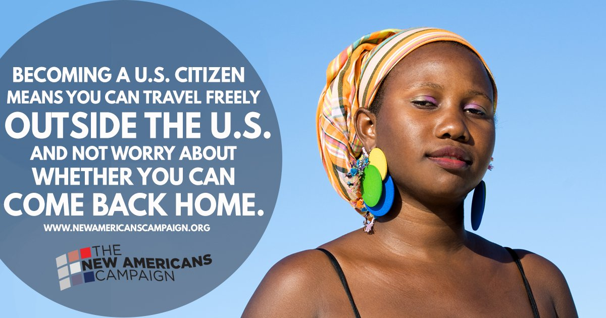Naturalized citizens are able to travel freely. Attend a #NewAmericans workshop to learn more: https://t.co/zROLzjZWTQ https://t.co/0jtIu3tKH7
