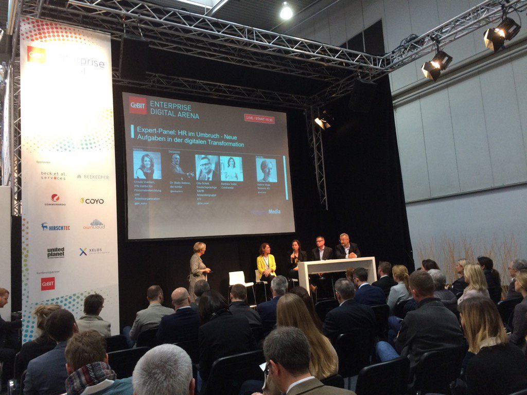 About to take to the stage in the Enterprise Digital Arena at #CeBIT #cebiteda https://t.co/Zkpur0Ngu1