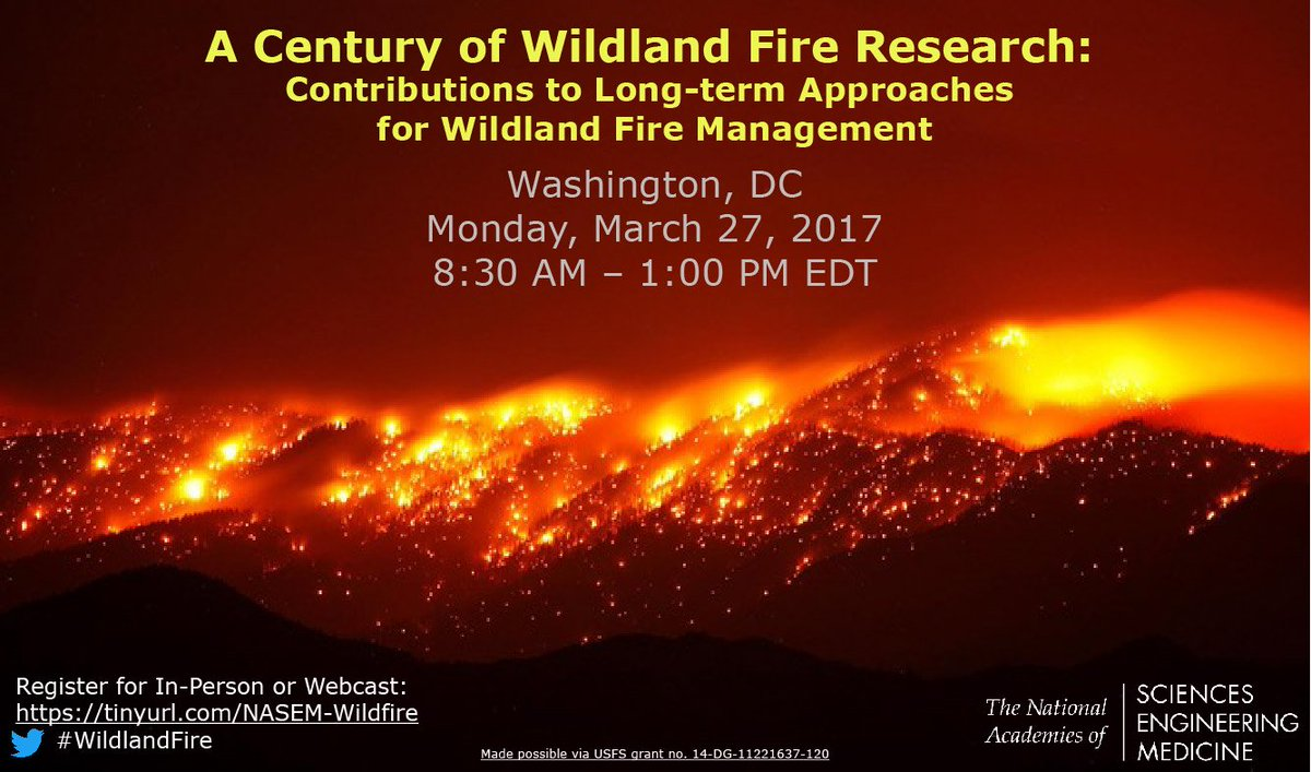 We&#39;re 1 week away from our #WildlandFire Workshop! Register for our webcast here  http:// buff.ly/2lw2Mz8  &nbsp;   @forestservice #forest #eco #enviro <br>http://pic.twitter.com/X3rZkXFgnk