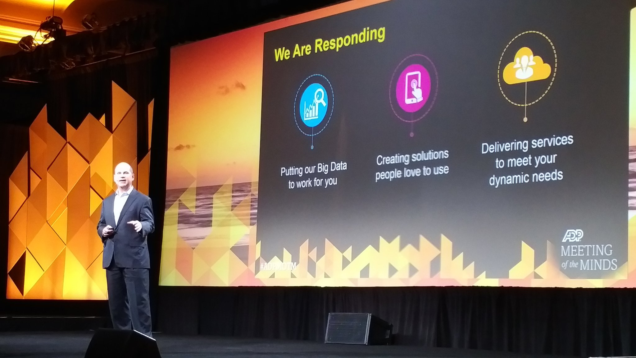 Rodriguez - @ADP is responding  - #BigData for customers  - solutions people love - deliver services that meet needs  #ADPMOTM https://t.co/HXDrNCG5Jt