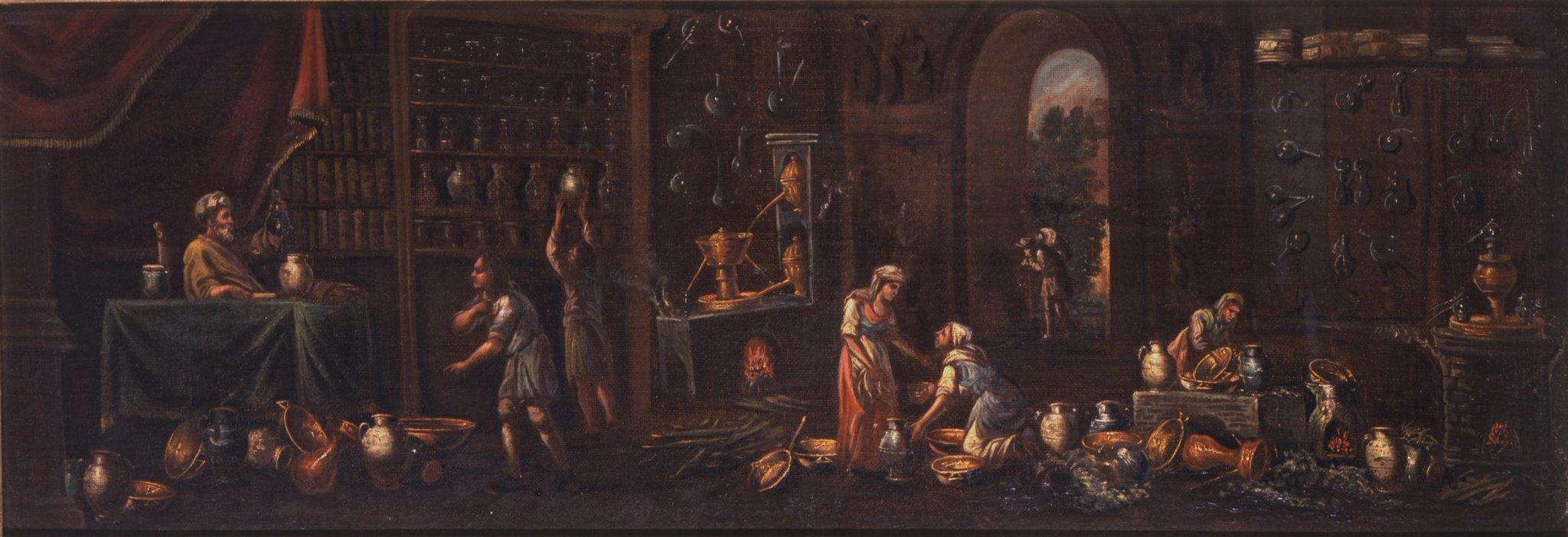 In this painting, women hurry around the apothecary, distilling plants and herbs into medicines and tonics #MuseumMonday #WomensHistoryMonth https://t.co/mqYYqDKnlR