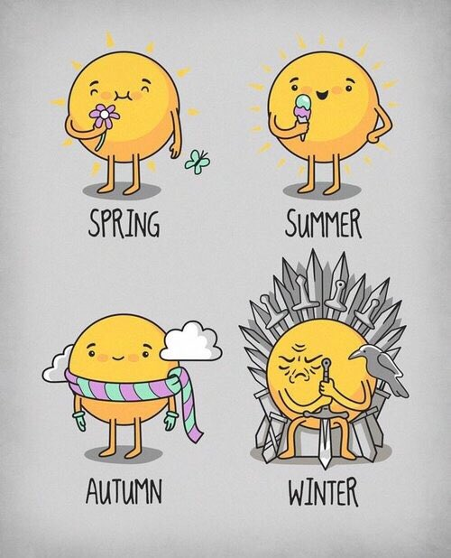Happy #firstdayofspring Winter is coming