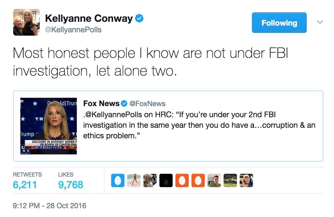 In light of the #ComeyHearing, this tweet did not hold up well.