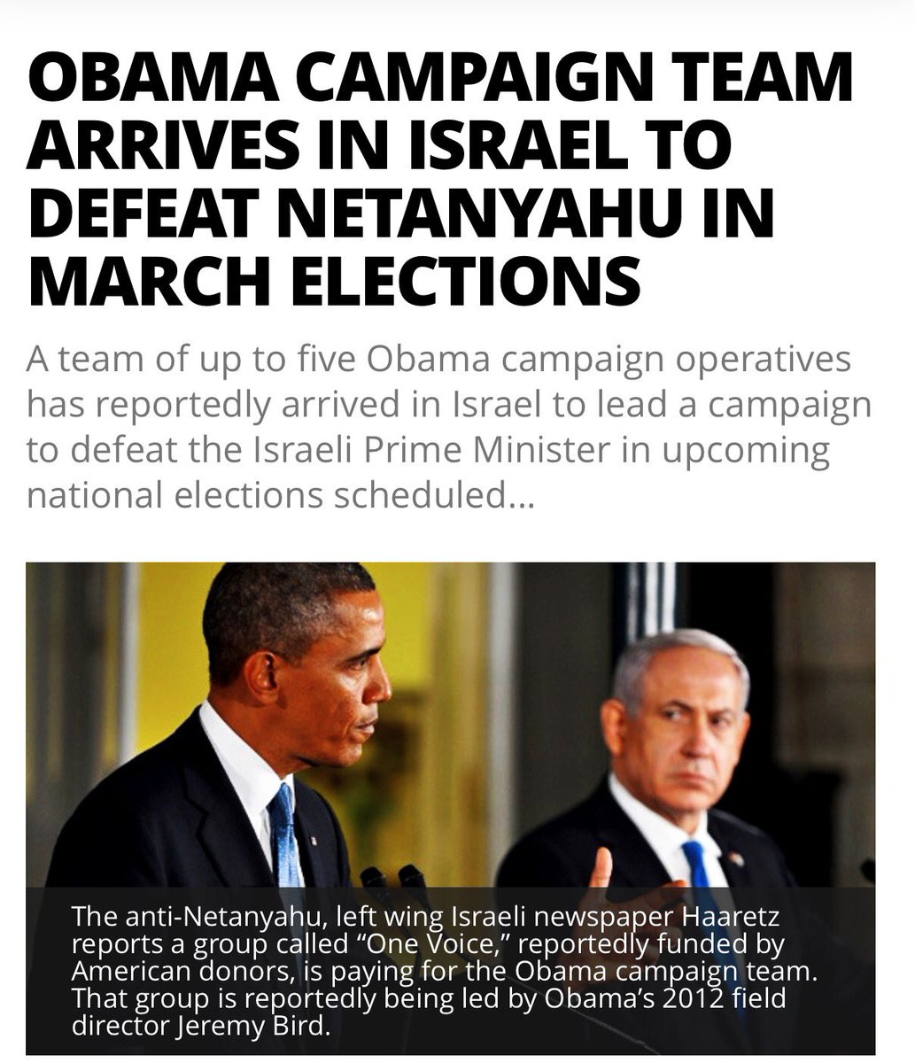 Where w the outraged against #Obama administration 4meddling w @netanyahu election @Israel ? Oh Forgot liberals &amp; #MSM cover their @FBI<br>http://pic.twitter.com/PMDmfWdKXC