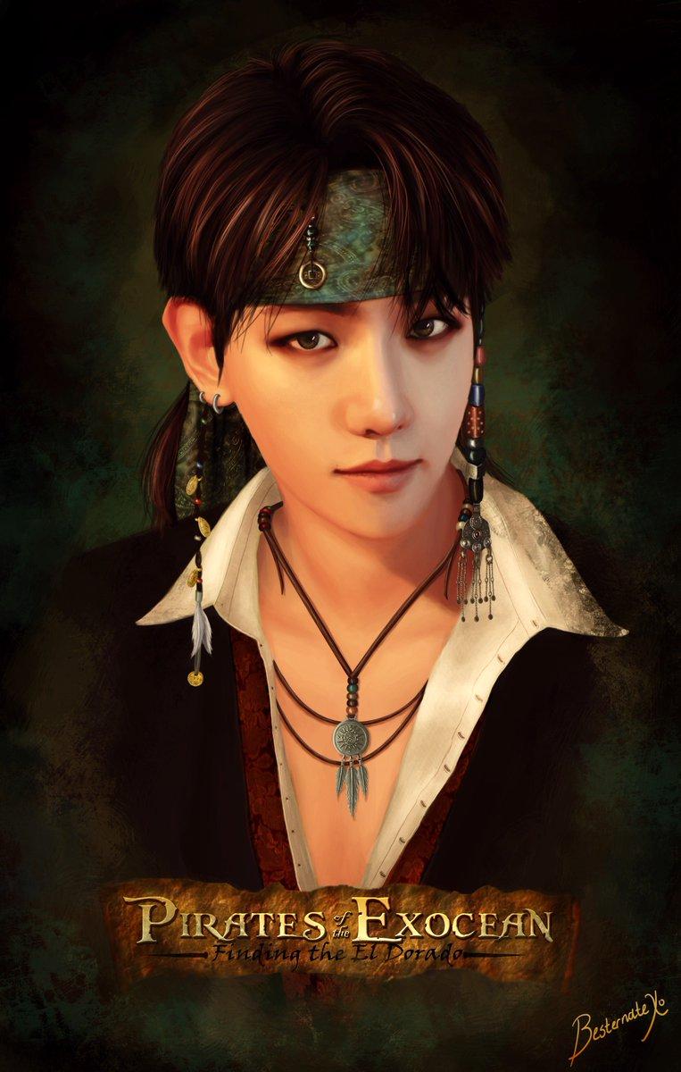 EXO Pirates AU The Captain! #baekhyun #exo #exofanart #baekhyunfanart